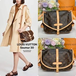 ✅Authentic ✅LOUIS VUITTON Saumur 30 Shoulder bag